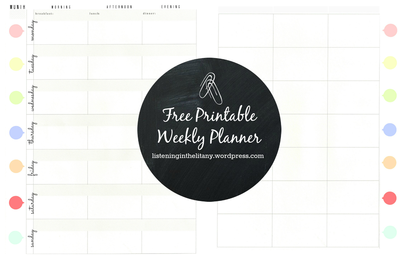 Creating A Family Routine A Free Printable Weekly Planner