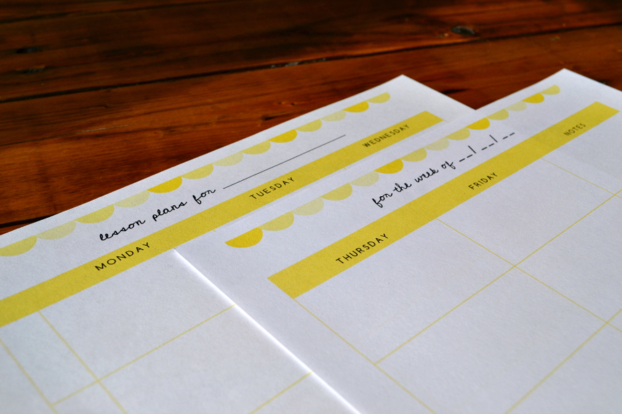 Free Printable Lesson Planner 890