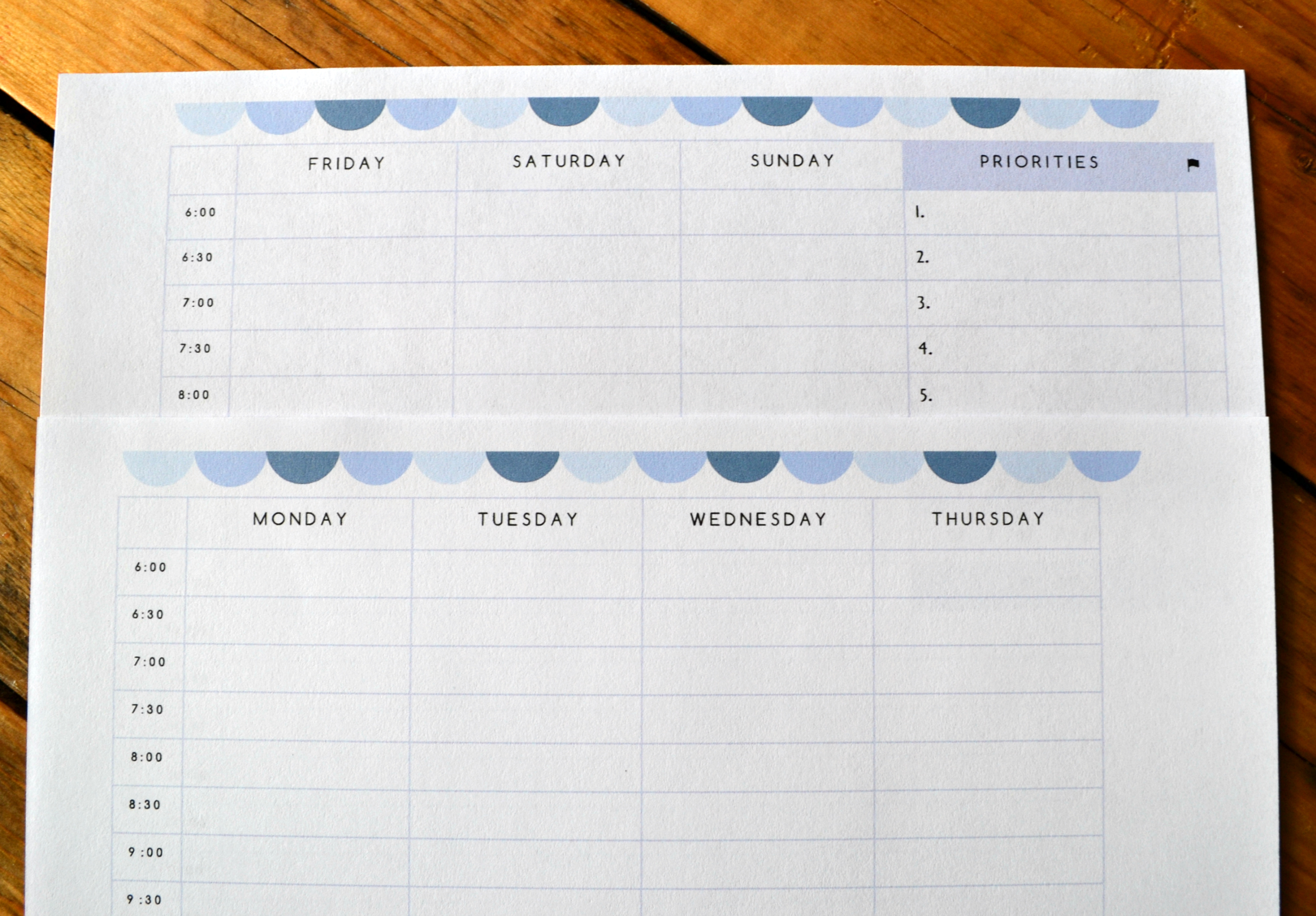 Free Printable Daily, Weekly, Monthly and Yearly Planning Sheets ...