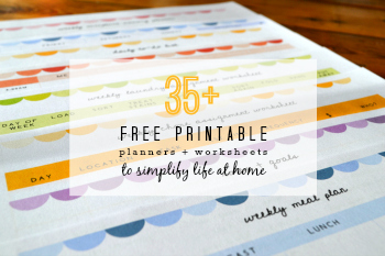 Free Printable Planner on Pinterest