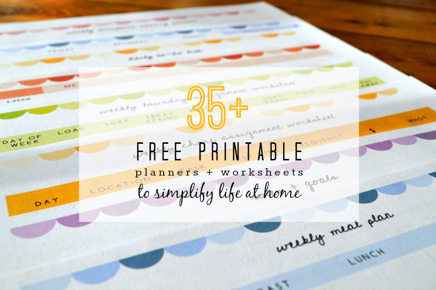 35+ Free Printables to Help You Prioritize, Plan, and Simplify in ...