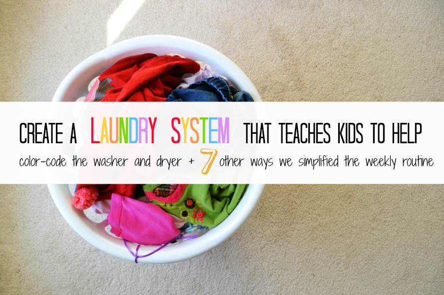 teach kids to wash clothes
